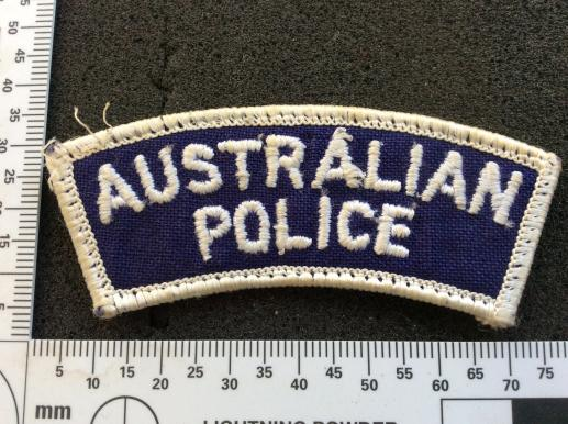AUSTRALIAN POLICE cloth Shoulder Title