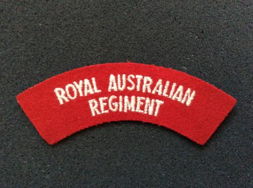 Post 1960 Royal Australian Regiment ( R.A.R) Shoulder Title
