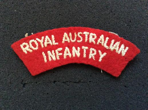 Royal Australian Infantry Cloth Shoulder Title