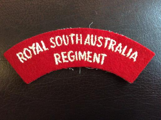 Royal South Australia Regiment Shoulder Title 1962-96