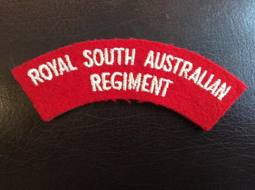 Royal South Australian Regiment Cloth Shoulder Title