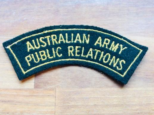 Australian Army Public Relations Shoulder Title 1948-60